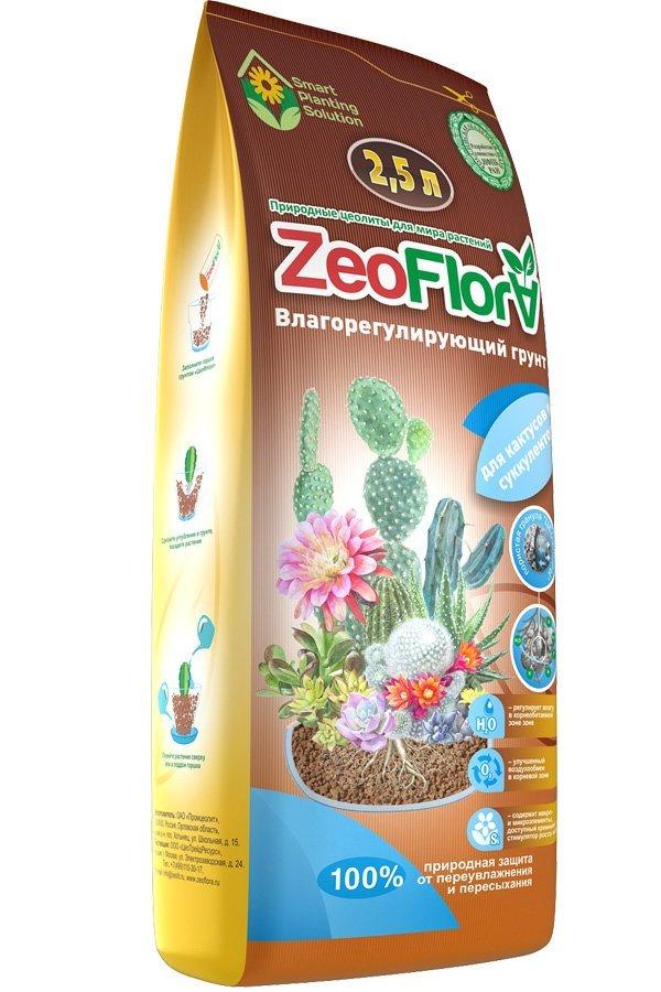 Влагосберегающий грунт ZeoFlora для кактусов